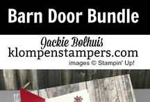 Barn door slider card