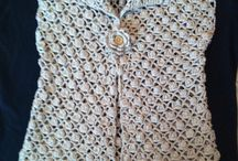 Crochet vest / Crochet using pineapple stitch