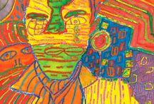 """Freidenrich """"Fritz"""" Hundertwasser / by Amanda Marie G."""