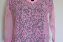 Georgette Kurtis / Georgette Lucknow Chikan Kurtis, Chikankari embroidery tunic