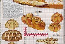 punto croce pane