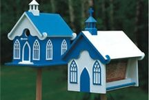 Outdoor, Bird Houses and Feeder Projects for the Scrollsaw / A bunch of good ideas here.  We have the patterns for them, but many can be made just by seeing the pics.  Enjoy!