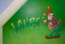 Wandschilderingen met studio100 figuren / Muurschilderingen met studio100 figuren in kinderkamers