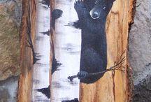 legni dipinti