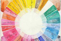aquarel kleurenpalet