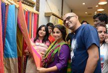 Vidya Balan's visit to Coloroso / Vidya Balan visits Coloroso saree store for the first time ever