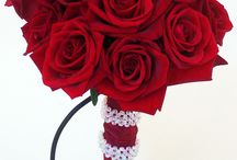 Red Wedding Flowers / Fun wedding creations in Red by Sparks Florist