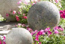 Декоративные шары из цемента своими руками