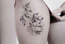 Flores na pele