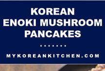 Pancake vegetable and mushroom