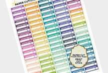 Plan ahead / Erin Condren, Life Planner accessories & stickers. / by Giovanna ⚡️