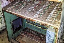 abandoned control room