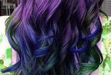 Lusty, colorful hair