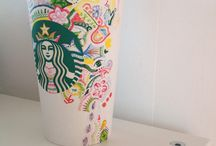Decorated starbuck cup