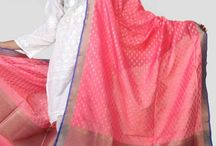 Benares Dupattas / Marvellously woven , Hand crafted Silks & Cotton Dupattas from Benares