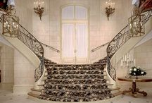 Mediterranean Staircases / Arcways MEDITERRANEAN custom stairways incorporate a compilation of materials such as custom forged iron work, stone or wood treads & risers, and countless other custom details and finishes. The results of our passion for design innovation, quality, and service enable Arcways to create ultra custom forms of individual egress.
