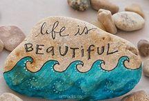 painting ->stones