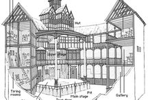 Shakespeare's London and the Globe / Research for a book on Shakespeare and the Globe.  / by John Shelley Illustration