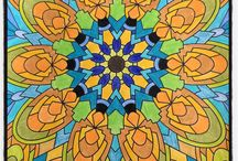 Mandalas / My mandalas- colored pencils. Finding new ways to RELAX!