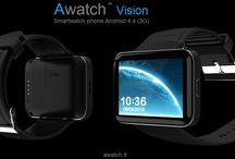 Awatch Vision / Smartwatch phone Android (3G) 2 inch display