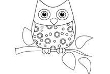 Desenhos infantis para colorir / Ilustrações infantis para pintar