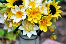 Felt Flowers / Ideas/tutorials for flowers for wall garland