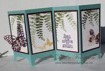 Folding screen cards