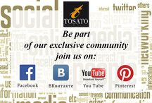 Tosato Community / Be part of our exclusive community.   Be part of Tosato's exclusive Social Network Community, linked to our pages with the most popular social networks worldwide. You can now read our news and interact with us in real time with our Facebook profile and also with the VKontakte profile, the world's most popular Russian social network. But in addition to all this: you can find all our collections on Pinterest, and watch videos on our Youtube profile.