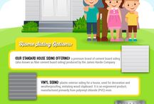 """Home Siding Options Infographic - Shaw Company Remodeling San Antonio / http://www.shawcoremodeling.com/services/siding - Siding is the first thing people see when they look at your home; it's what gives your home """"curb appeal."""" It is also a home's first line of defense against the elements. In addition to protection, your home's sidings also directly contribute to your home's beauty and property value. Shaw Company Remodeling offers a wide variety of siding options and siding colors to match your home's current style, or give it a completely new one."""