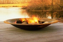 Fireplaces. Modern outdoor & indoor fireplaces