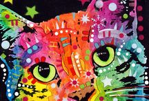 Designer Cats / Fantastically colourful kitty prints by some wonderful artists. Pin any that you want.