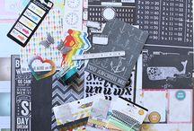 Summer Nights Kit Inspiration / Inspiration for Summer Nights, the Scrap Stash Kit for August 2013. http://bit.ly/Vw7GZh