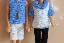 Szydełkowe ubranka dla Barbie i Kena