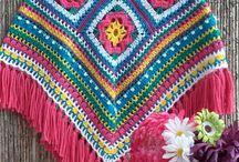 Poncho very colorful / Crochet