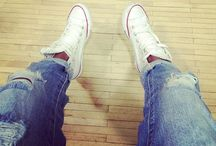 My style / Boyfriend jeans, converse