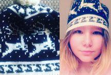 Headwear knitted hats by LA'