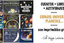 Cuentos, libros, actividades espacio, universo