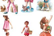 Coloriage, poupées papier et images enfants