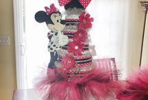 Minnie Mouse diaper cake / Minnie Mouse diaper cake