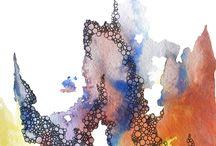 Aquarelle Abstraite et technique