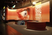 Sets and studios for visual communication use digital media and graphics to tell the story.