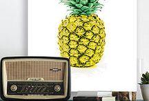 Pineapples, Flamingos, prints and stuffs