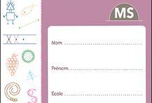 Graphisme en maternelle : outils et ressources / Une sélection pour initier les premières séances de graphisme à l'école auprès des enfants de 3 à 6 ans. Cahiers individuels, fiches, activités et progressions sont à l'honneur...
