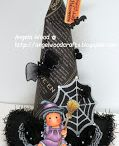 # 47 Witch hat / Template # 47 Witch hat available at www.sandrasscrapshop.blogspot.com