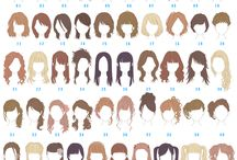 Hairstyles for drawing