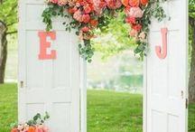 Peach Rustic Wedding
