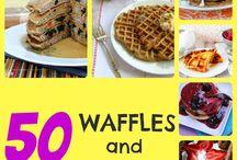 Waffles, cornbread and pancakes