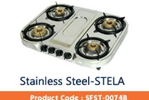 STAINLESS STEEL GAS STOVE / THIS BOARD IS ABOUT THREE BURNER GLASS COOKTOPS FROM A VERY FAMOUS BRAND AND A HOUSEHOLD NAME FOR 30 YEARS NAMED SURYAFLAME