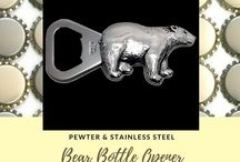 Bottle Openers / Unique bottle openers made from lead free pewter.