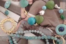 collana pietre azzurre e verdi